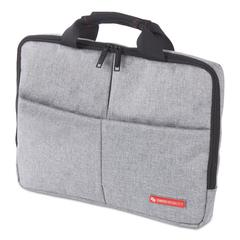"Sterling Slim Briefcase, Holds Laptops 14.1"", 1.75"" x 1.75"" x 10.25"", Gray"