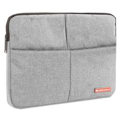 """Sterling 14"""" Computer Sleeve, Holds Laptops 14.1"""", 1"""" x 1"""" x 10.5"""", Gray"""