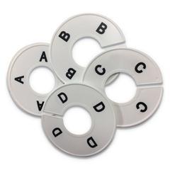 "Alphabetized Hanging Dividers, 3 /12"", White"