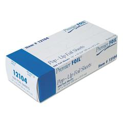 """Premier Pop-Up Aluminum Foil Sheets, 12"""" x 10 3/4"""", 500/Box, 6 Boxes/Carton"""