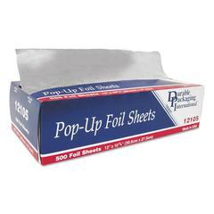 "Pop-Up Aluminum Foil Sheets, 12"" x 10 3/4"", 500/Box, 6 Boxes/Carton"