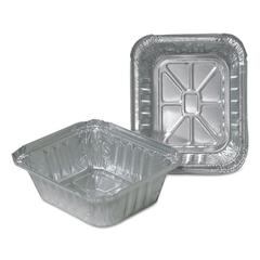Aluminum Closeable Containers, 4 7/8w x 1 13/16d x 5 3/4h, Silver, 1000/Carton