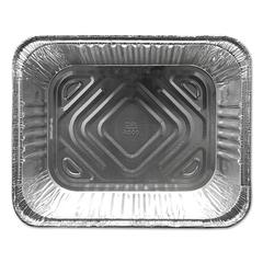 Aluminum Steam Table Pans, 12 3/4w x 10 3/8d x 2 9/16h, Silver, 100/Carton