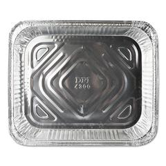 Aluminum Steam Table Pans, 12 3/4w x 10 3/8d x 1 11/16h, Silver, 100/Carton