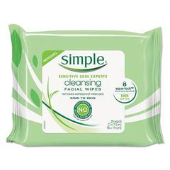 Eye And Skin Care, Facial Wipes, 25/Pack
