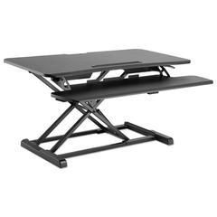 "AdaptivErgo Sit-Stand Workstation, 37 3/8"" x 26 1/8"" x 19 7/8"", Black"