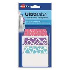 Ultra Tabs Repositionable Tabs, 2 x 1.5, Assorted Patterns, 24/PK