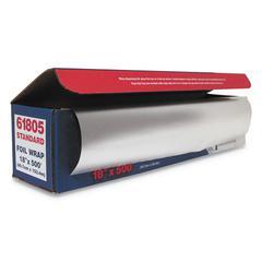 "Standard Aluminum Foil Roll, 18"" x 500 ft"
