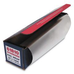 "Standard Aluminum Foil Roll, 18"" x 1,000 ft"