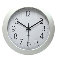 "Deluxe Whisper Quiet Clock, 12"", White, 1 AA Battery"