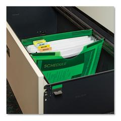 """Expanding File w/ Hanging Tabs, 0.75"""" Expansion, 7 Sections, Letter Size, Green"""