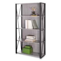 Mood Bookcases, 31 3/4w x 12d x 59h, Gray