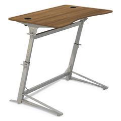 Verve Standing Desk, 47.25w x 31.75d x 42h, Walnut