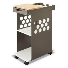 Mini Rolling Storage Cart, 29 3/4w x 15 3/4d x 16 1/2h, White, 200lbs Cap.