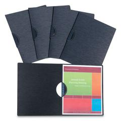"""Modern Metallic Executive Style Report Cover, 8 1/2"""" x 11"""", Black, 5/Pack"""