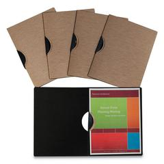 """Modern Metallic Executive Style Report Cover, 8 1/2"""" x 11"""", Bronze, 5/Pack"""