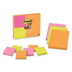 Pads in Rio de Janeiro Colors, (6) 3 x 3 & (3) 4 x 6, 90-Sheet Pads, 9 Pads/PK