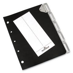 Catalog Rack Index, 5 Sections, Black