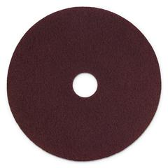 "Surface Preparation Pad Plus, 17"" Diameter, Maroon, 5/Carton"