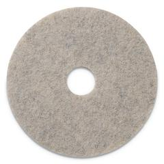 "Combo Burnishing Pads, 20"" Diameter, Tan, 5/CT"