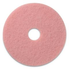 "Remover Burnishing Pads, 27"" Diameter, Pink, 2/CT"