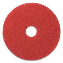 "Buffing Pads, 19"" Diameter, Red, 5/CT"