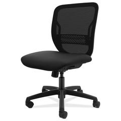 Gateway Mid-Back Task Chair, Supports Up to 250 lbs, Black Seat, Black Back, Black Base