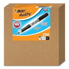 Marking Fine Tip Permanent Marker, Fine Bullet Tip, Black, 200/Carton