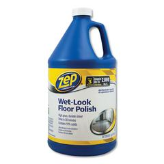 Wet Look Floor Polish, 1 gal, 4/Carton