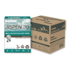 ASPEN Multi-Use Recycled Paper, 92 Bright, 20lb, 8 1/2 x 11, White, 500/RM
