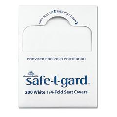 "Seat Covers Safe-T-Gard, 17"" x 14.5"" White, 25/Carton"