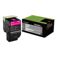 70C0XMG (700XMG) Return Program Extra High-Yield Toner, Magenta, TAA Compliant