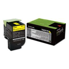 700XYG, Extra High-Yield, Toner, 4000 Page-Yield, Yellow