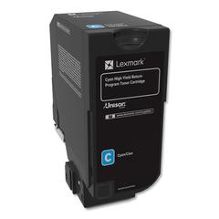 Remanufactured 74C1HC0 (CS725) Return Program High-Yield Toner, Cyan