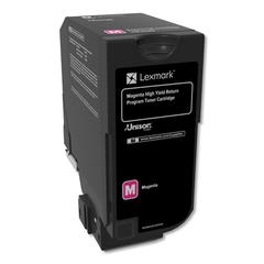 Remanufactured 74C1HM0 (CS725) Return Program High-Yield Toner, Magenta