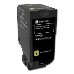 Remanufactured 74C1HY0 (CS725) Return Program High-Yield Toner, Yellow
