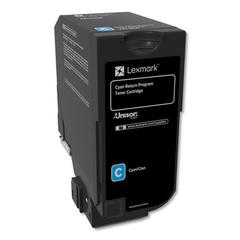 Remanufactured 74C10C0 (CS720/CS725/CX725) Return Program Toner, Cyan