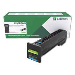 Remanufactured 82K1XC0 (CX825) Return Program Extra High-Yield Toner, Cyan
