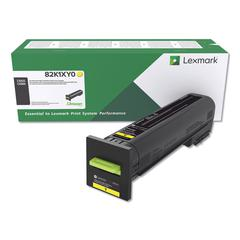 Remanufactured 82K1XY0 (CX825) Return Program Extra High-Yield Toner, Yellow