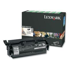 Remanufactured X651H41G (X651) Return Program High-Yield Toner, Black