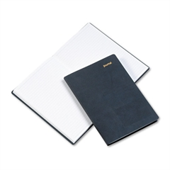 Day-Timer Leatherlike Journal, Black Polyurethane Cover, Lined Pages, 5 1/2 x 7 3/4