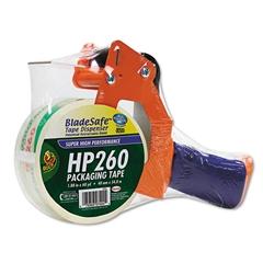 "Duck Bladesafe Bladesafe Antimicrobial Tape Gun w/Tape, 3"" Core, Metal/Plastic, Orange"
