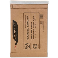 Caremail Caremail Rugged Padded Mailer, Side Seam, 10 1/2x14 3/4, Light Brown, 25/Carton