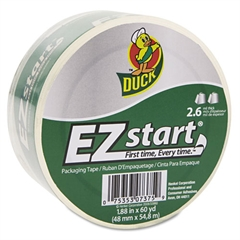 "EZ Start Premium Packaging Tape, 1.88"" x 60yds, 3"" Core, Clear"