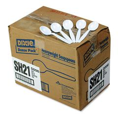 Plastic Cutlery, Heavyweight Soup Spoons, White, 1000/Carton