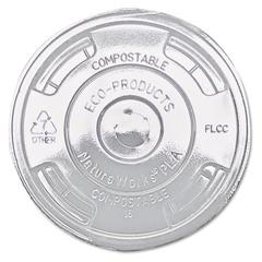 GreenStripe Renewable & Compost Cold Cup Flat Lids, F/9-24oz., 100/PK, 10 PK/CT