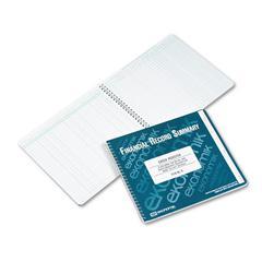 Ekonomik Wirebound Check Register Accounting System, 8 3/4 x 10, 40-Page Book