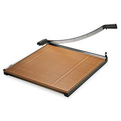 "Square Commercial Grade Wood Base Guillotine Trimmer, 20 Sheets, 24"" x 24"""