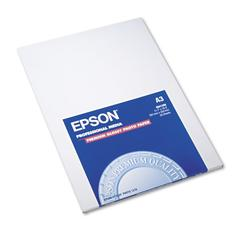 Epson Premium Photo Paper, 68 lbs., High-Gloss, 11-3/4 x 16-1/2, 20 Sheets/Pack