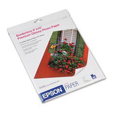 Epson Premium Photo Paper, 68 lbs., High-Gloss, 8 x 10, 20 Sheets/Pack
